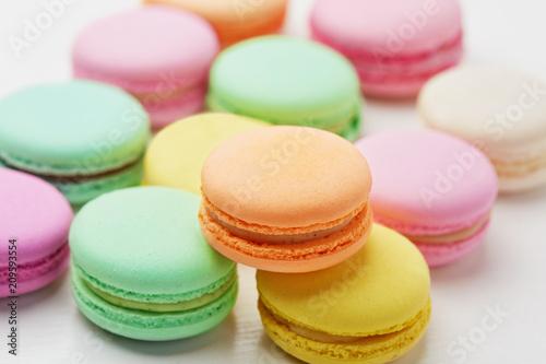 Keuken foto achterwand Macarons Macarons. Colorful French Macaroons Close Up