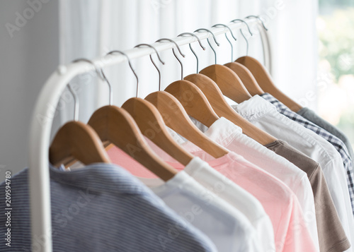 Fotografie, Obraz  Clothes rack