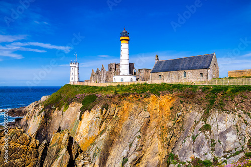 Cadres-photo bureau Con. Antique Lighthouse Pointe de Saint-Mathieu, Brittany (Bretagne), France