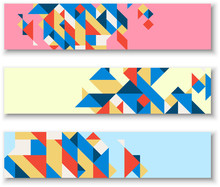 Banners With Abstract Colorful...