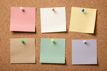 Colorful Blank Sticky Notes On...