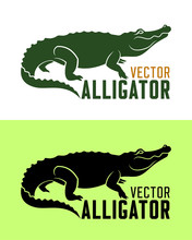 Alligator Silhouette Vector Illustration