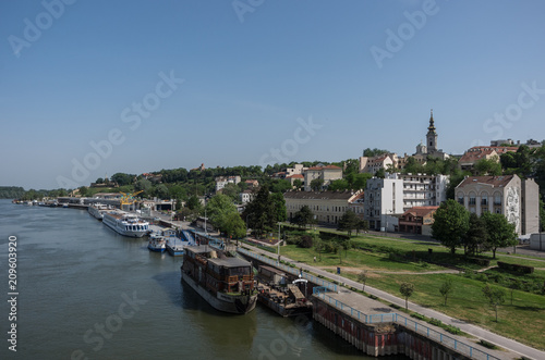 Photo Stands Paris Beautiful view of the historic center of Belgrade on the banks of the Sava River, Serbia