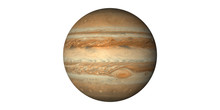 Planet Jupiter In Space White ...