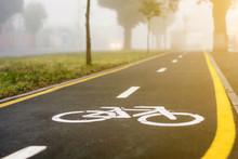 Bike Path With Fresh Asphalt I...