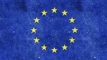 EU Flag On Cracked Concrete 3d...