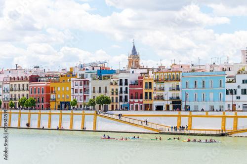 views to Triana neighborhood at Seville, Spain Fototapete