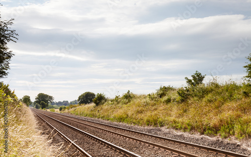 Railway Track.  A railway track in northern England. Canvas Print