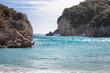 Beautiful rocky bay at Paleokastritsa in Corfu, Greece