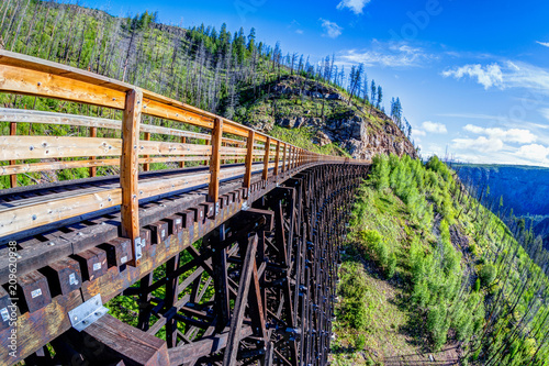 Historic Trestle Bridge at Myra Canyon in Kelowna, Canada Tapéta, Fotótapéta