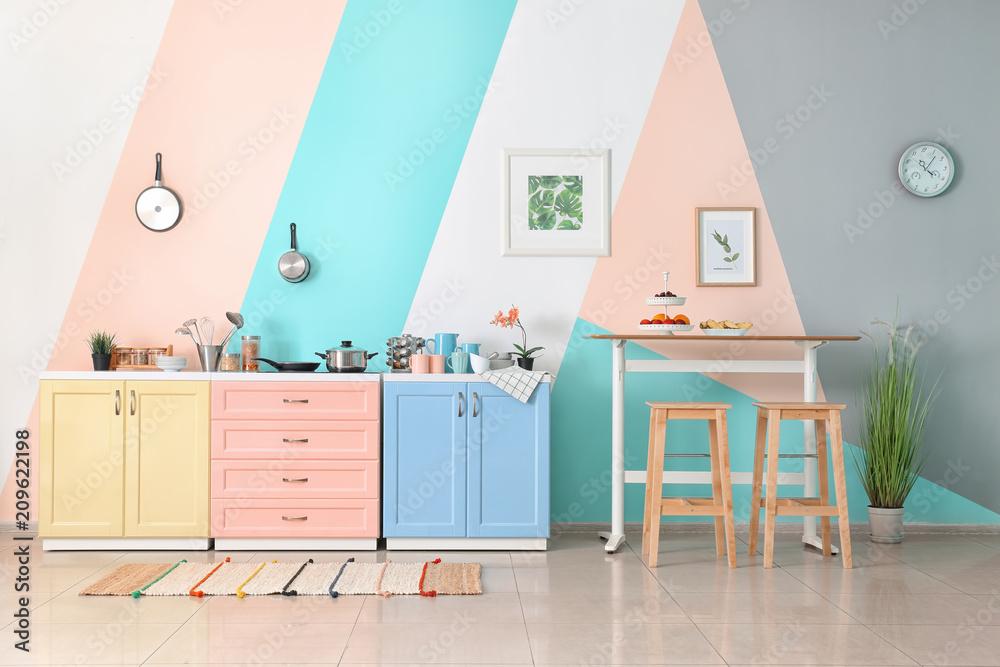 Fototapety, obrazy: Interior of modern kitchen