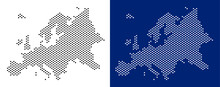 Dotted Europe Map. Vector Geog...