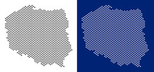 Dotted Poland Map. Vector Geog...