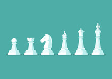 Chess Piece Vector Icons Set