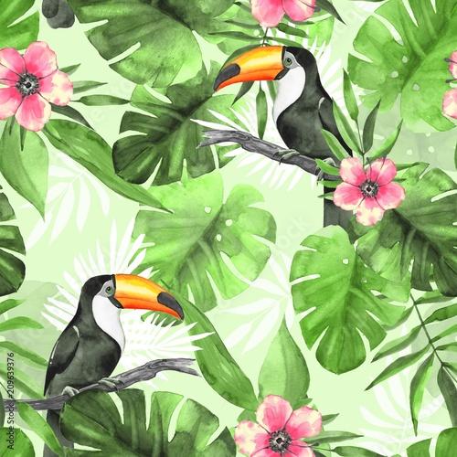 bezszwowy-tropikalny-wzor-z-pieprzojadami-3-akwareli-ilustracja