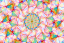 Abstract Geometrical Background Composed Of Colorful Figures
