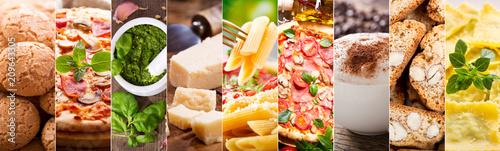 Foto  food collage of italian cuisine