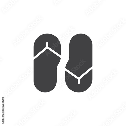 820b30d027f3 Flip flops vector icon. filled flat sign for mobile concept and web design.  Beach slippers simple solid icon. Symbol