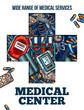 Medicine cross symbol with medical sketch