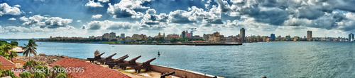 Papiers peints La Havane panoramic view of havana city and havana bay taken to the morro castle