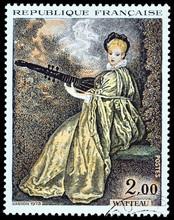 Antoine Watteau Stamp