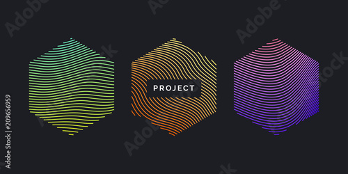 Photo Vector abstract background with dynamic waves.