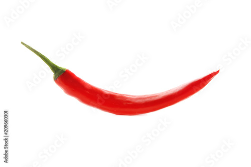 Foto op Aluminium Hot chili peppers Red chili pepper on white background