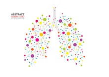 Abstract Human Lung Vector Wit...