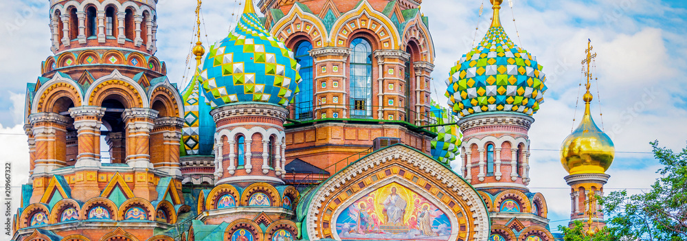Fototapety, obrazy: Church of the Savior on Spilled Blood, St Petersburg Russia