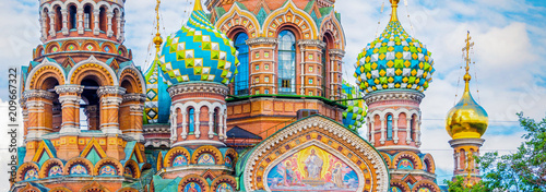 Canvas Prints Historical buildings Church of the Savior on Spilled Blood, St Petersburg Russia