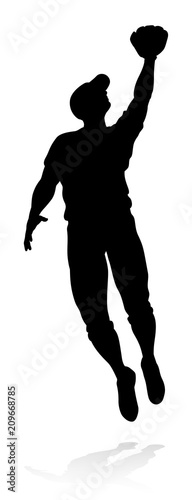 Baseball Player Silhouette Canvas Print