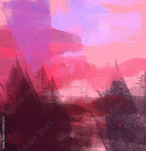 Foto op Canvas Candy roze Abstract painting on canvas. Hand made art. Colorful texture. Modern artwork. Strokes of fat paint. Brushstrokes. Contemporary art. Artistic background image.