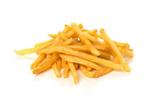 Pile Of French Fries On A Whit...