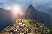Machu Picchu Under Sun Lights