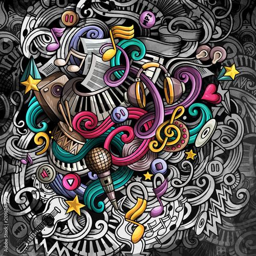 Fototapeta Doodles Music illustration obraz na płótnie