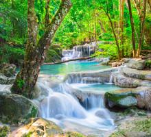 Beautiful Waterfall In Deep Fo...