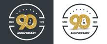 90th Anniversary Logo On Dark ...