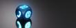 canvas print picture - Leuchtender Symbolwürfel - Kontaktaufnahme