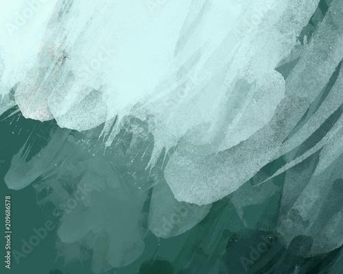 zielona-akwarela-malowana
