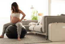 Pregnant Woman Doing Relax Exe...
