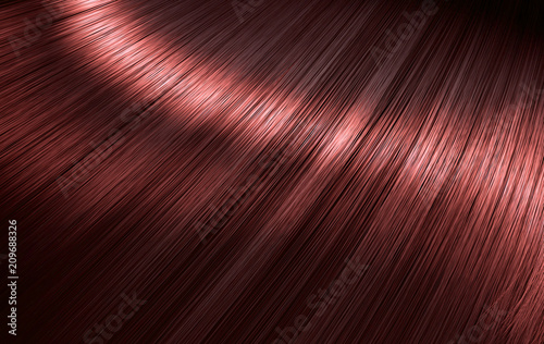 Slika na platnu Shiny Red Hair
