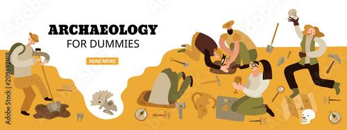Archaeology Web Header Canvas Print