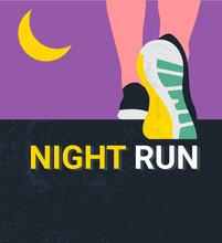 Athlete Runner Feet Running Or...