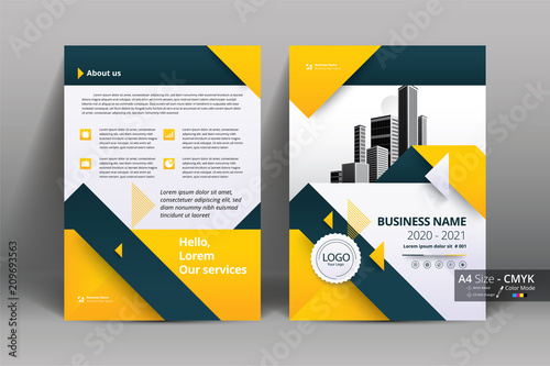 Fototapeta Abstract vector modern/ flyer design / brochure design template / annual report /book cover / corporate identity template /in an A4 page obraz