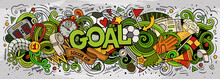 Cartoon Cute Doodles Goal Word