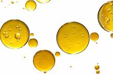 Golden Yellow Bubble Oil, Abst...
