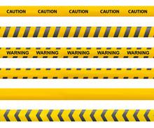 Tape Caution. Police Line. War...