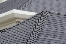 Edge Of Roof Shingles On Top O...
