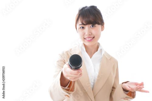 Fotografia, Obraz  インタビューをする女性