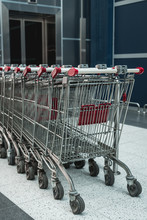 Shopping Carts. Supermarket Trolleys.